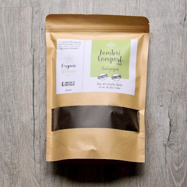contenu box jardinage de balcon : lombricompost pour pot et jardinière par Organic womr, bretagne / échoppe végétale